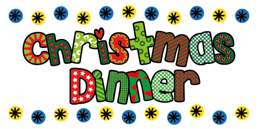 Image result for christmas dinner at school clipart