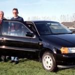 G. Curtis & G. Kealy with Dermot Callaghan Commons Road Cars Navan Jan. 1999