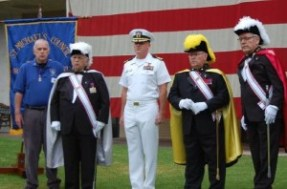 Spirit of the 4th-Veterans Village of San Diego receives check from KofC