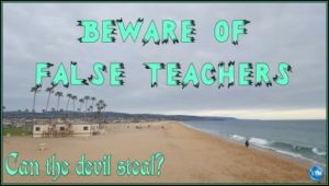 Picture of overcast day at the beach for the devil steal bible study