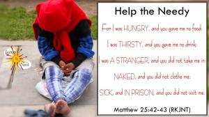 picture for help the needy Bible study - Venice Beach, CA