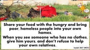 picture for help the needy Bible study - San Bernardino, CA