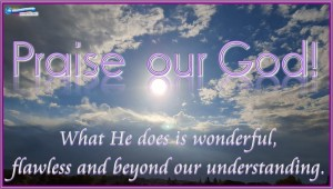 picture for praises to god daily word sat
