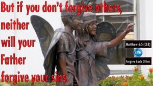 Picture of a statue of children for the forgive each other bible study Matthew 6:15