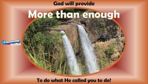 picture of Kauai waterfall for more than enough daily message tue