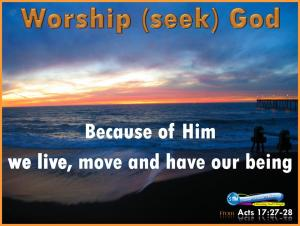 picture for worship god - daily message mon