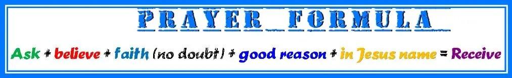 graphic for spiritual nutrition - prayer formula