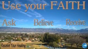 Picture of streaming clouds over Inland Empire for the receive your healing bible study