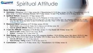 graphic outline for spiritual attitude