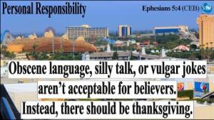 Picture of a view of disneyland for the personal responsibility bs Ephesians 5:4