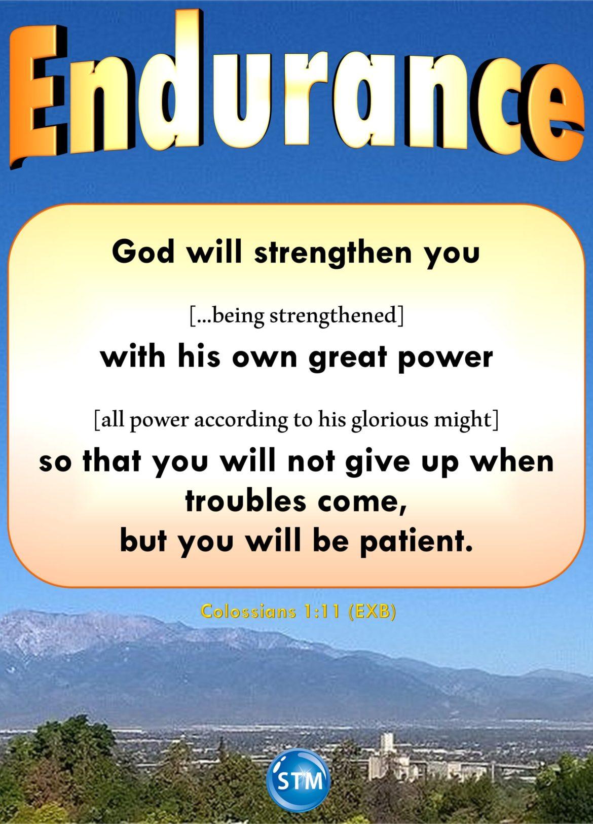 Endurance – You Can Go Through Whatever You Are Going Through