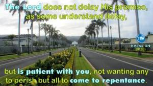 Picture of road to the temple for the repentance bible study 2 Peter 3:9