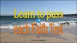 Picture of a wonderful beach day for the faith test bible study James 1:3