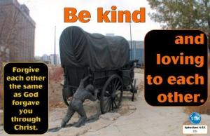 Picture of pioneer sculpture for the kindness bs Ephesians 4:32