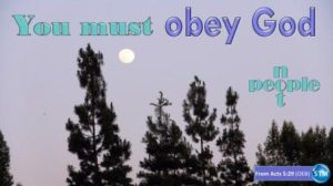 Picture of an of evening moon for the obey God bible lesson