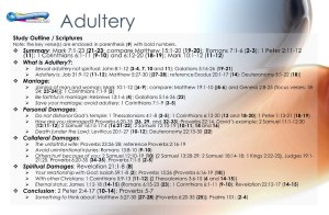 outline of the adultery bible study