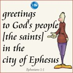 graphic of ephesians 1:1 for the holy spirit bl