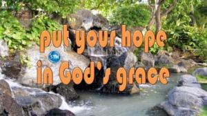 Picture of waterfall at the beach for the your hope bible lesson