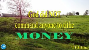 tithing - it's not about money