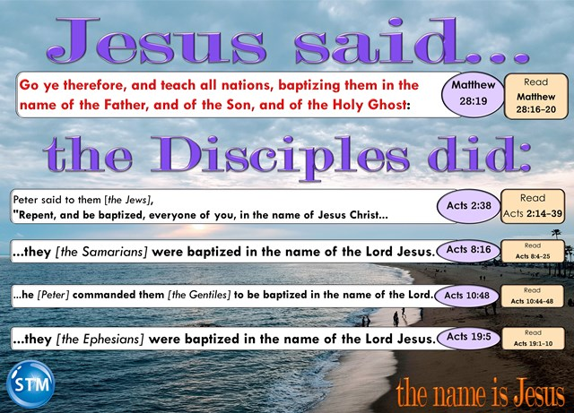 Father, Son, Holy-Spirit Share One Name The Name Is Jesus