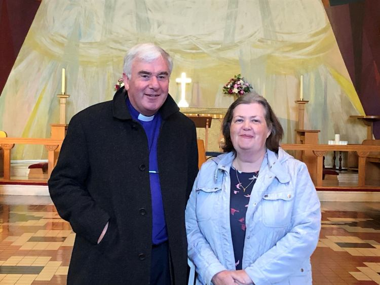 Bishop David McClay and his wife Hilary visit St Molua's August 2020
