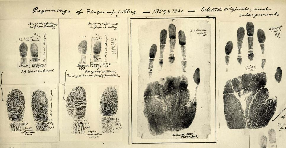 Beginnings of Fingerprinting | Courtesy of Wikimedia Commons