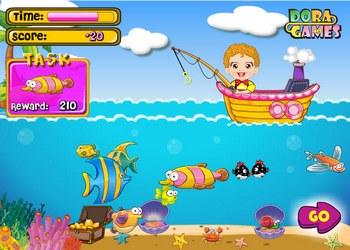 Детская рыбалка играть онлайн бесплатно - Игры русская рыбалка