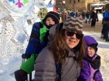 Seated on the ice throne at the Saint Paul Winter Carnival