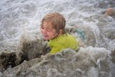 Griff loving the surf. -KM