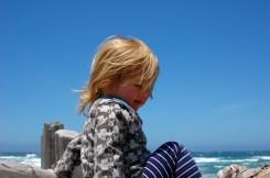Maggie enjoys the sea breeze