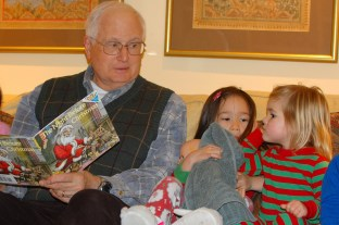 "Christmas Eve reading of ""A Visit from St. Nicholas"" (aka ""Twas the Night Before Christmas"")"