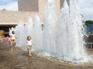fountains at the National Gallery