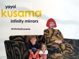 Griffin and Maggie share a couch with Yayoi Kusama.