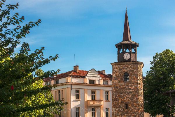 Часовниковата кула в Хасково - Фотобанка
