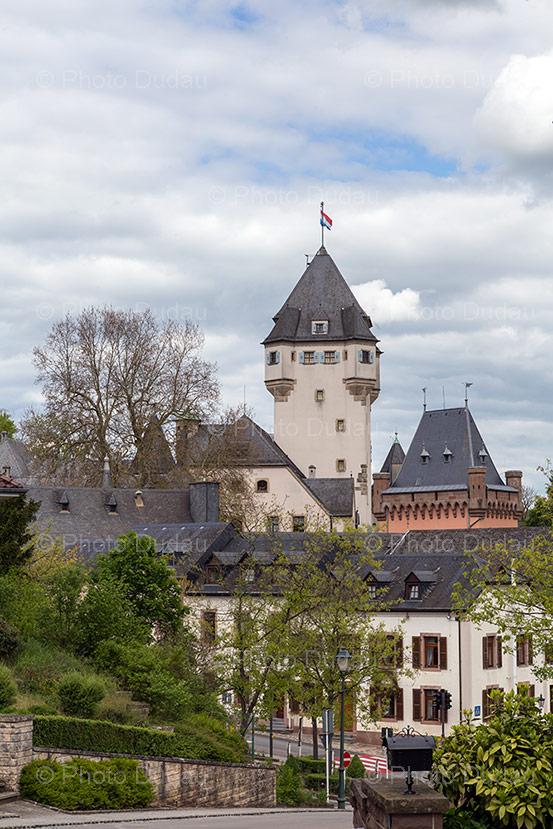 Berg Castle in Colmar-Berg, Luxembourg.