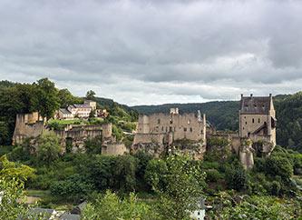 Larochette Castle in Larochette, Luxembourg.