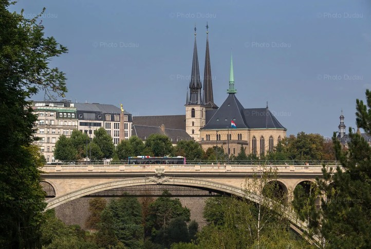 Pont Adolphe and Notre Dame - Luxembourg
