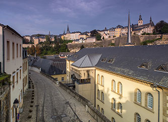 old town in Luxembourg city