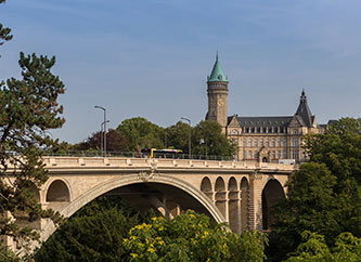 Pont Adolphe bridge and Spuerkees tower