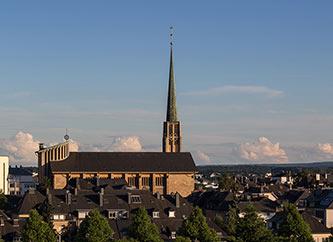 Belair quarter with Saint Pius X Church