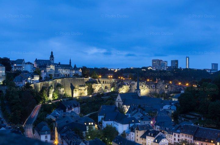 Luxembourg night cityscape