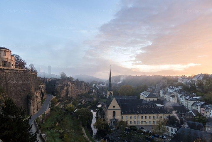 Luxembourg City Grund cityscape
