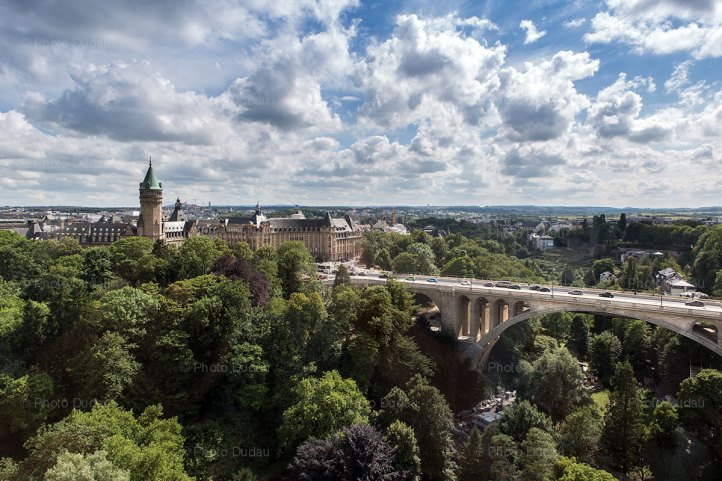 Luxembourg city aerial view