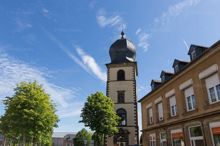 Mersch town in Luxembourg