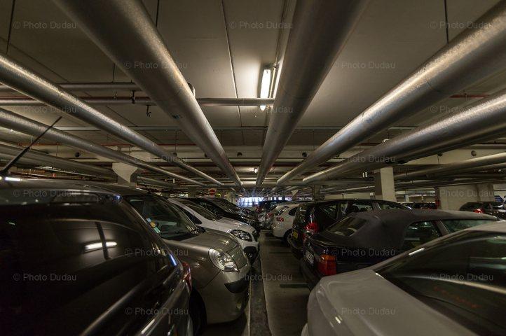 Underground parking at Belval Plaza