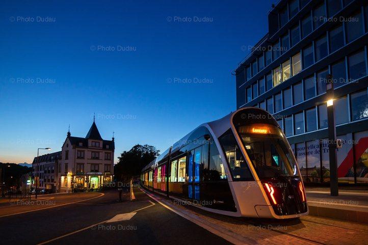 Tram in Place de l'Etoile Luxembourg city