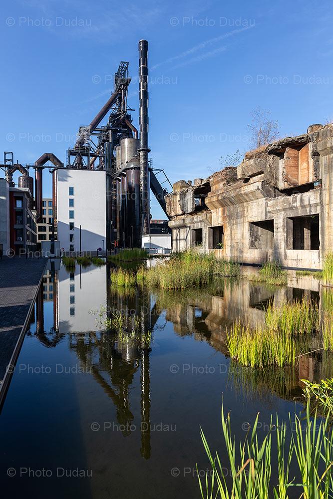 Esch-sur-Alzette Belval industrial blast furnace
