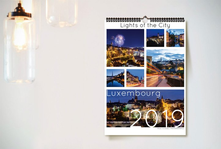 Luxembourg Calendar Lights of the City 2019