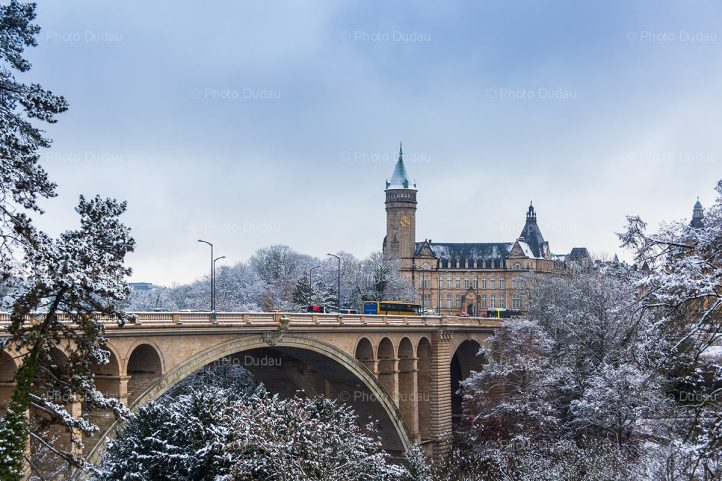 winter snow in Luxembourg city
