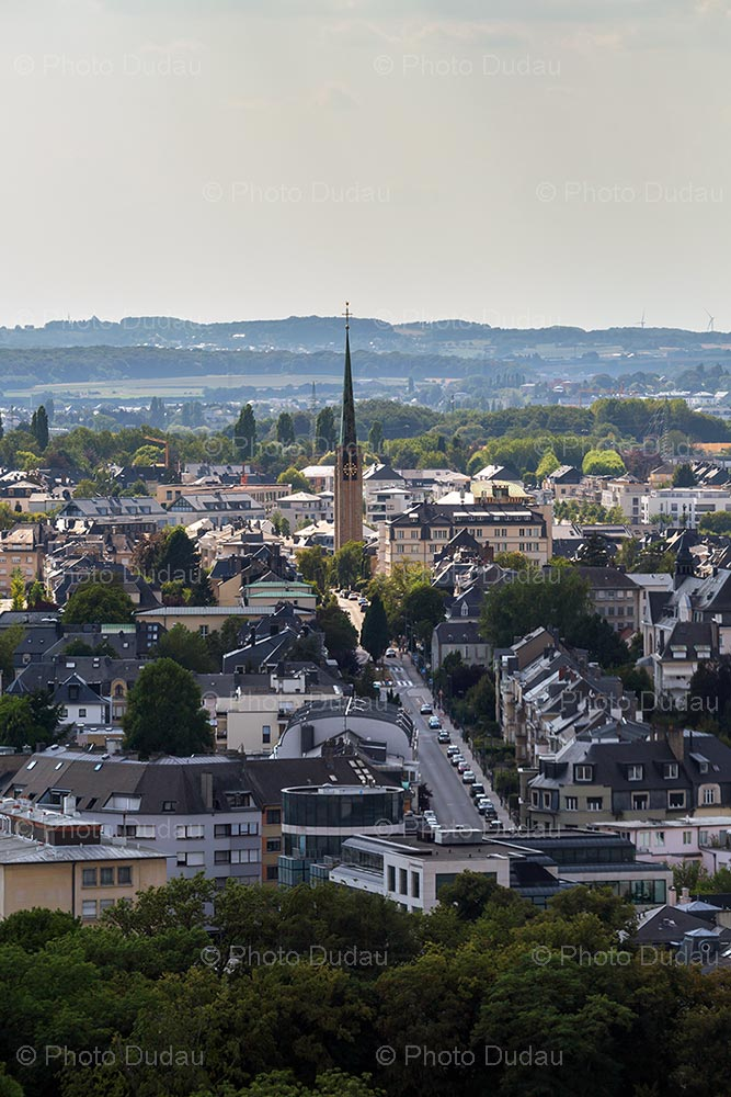 Aerial view of Belair in Luxembourg